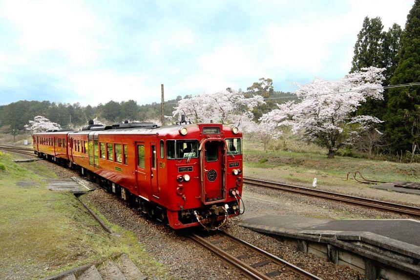 Isaburo/Shinpei is among the trains connecting Kumamoto to Kagoshima.
