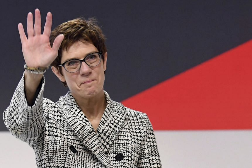 """Mrs Annegret Kramp-Karrenbauer has promised to stick closely to the centrist course, insisting that the weakened CDU needs to position itself as """"the people's party in the middle""""."""