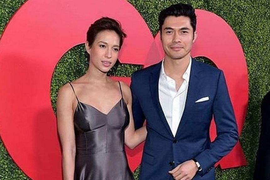 Actor Henry Golding and his wife Liv Lo at the 2018 GQ Men of the Year party in Beverly Hills last Thursday.