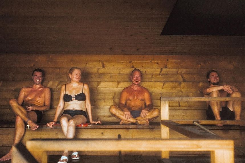 The sauna (above) is an essential part of Finnish culture, as Finns believe it provides many health benefits.