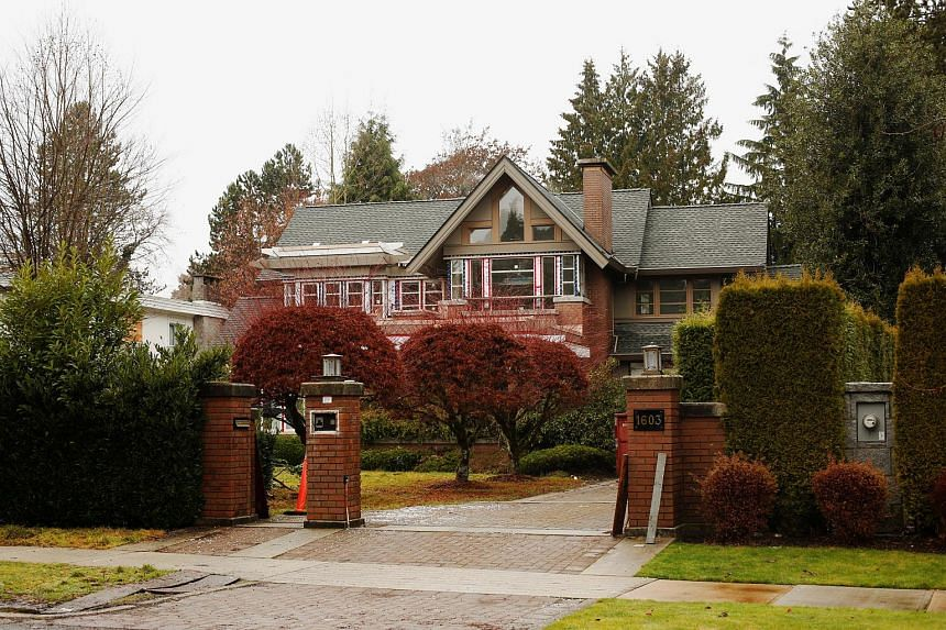 A home owned by the family of Huawei CFO Meng Wanzhou, who is being held on an extradition warrant, is pictured in Vancouver, British Columbia.