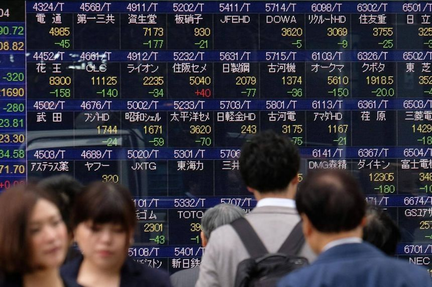 Japan's Nikkei shed 2 per cent. Data early in the session showed the economy contracted the most in over four years in the third quarter as capital expenditure tumbled.