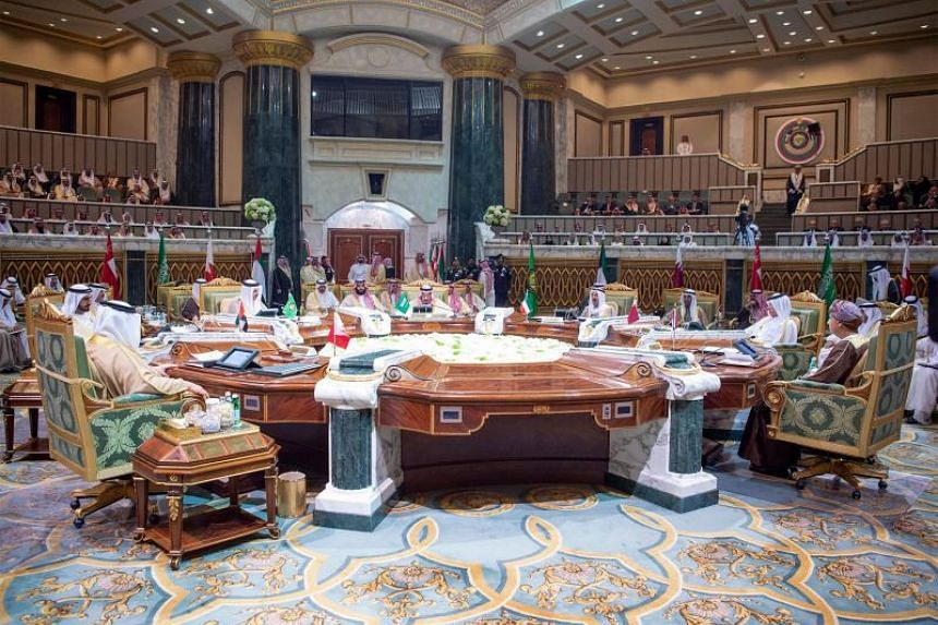 A general view of the meeting at the Diriya Palace in the Saudi capital Riyadh during the Gulf Cooperation Council summit, on Dec 9, 2018.