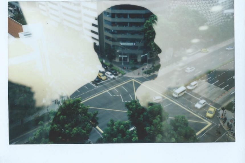 Some photographers enjoy experimenting with artistic techniques when using instant cameras. This photo was taken using the double exposure technique, which involves superimposing two or more exposures to create a single image.