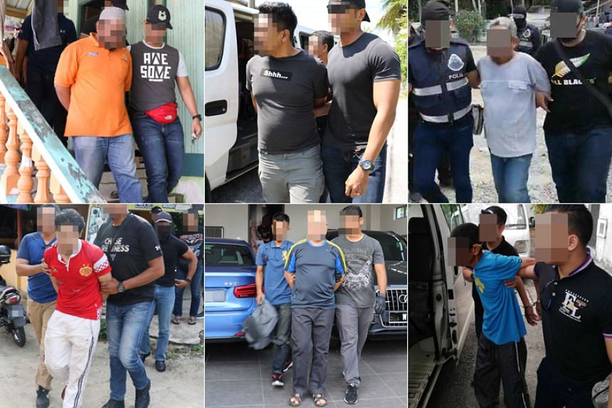 Those arrested include a honey seller in Kelantan, an oil and gas engineer in Kajang, Selangor, and three people in Sabah linked to the Abu Sayyaf Group.