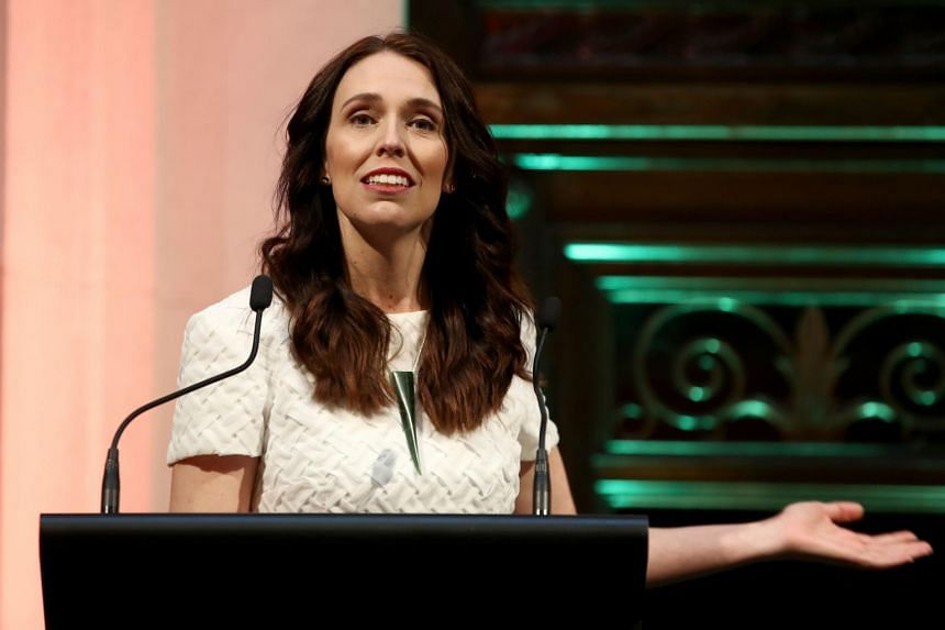 File photo of New Zealand's PM Jacinda Ardern speaking at a reception, on Oct 30. Ms Ardern said there was a collective feeling of shame in the South Pacific nation over the fate of murdered British backpacker Grace Millane.