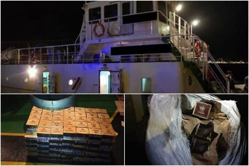 The contraband cigarettes were found during a joint operation at Pasir Panjang Terminal, on Dec 6, 2018.