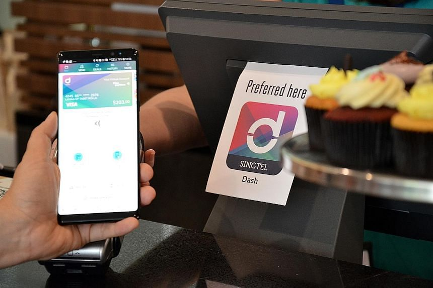 Dash users can make near-field communications payments at Apple Pay and Visa payWave terminals worldwide, under a tie-up with credit card company Visa and tech giant Apple announced yesterday.