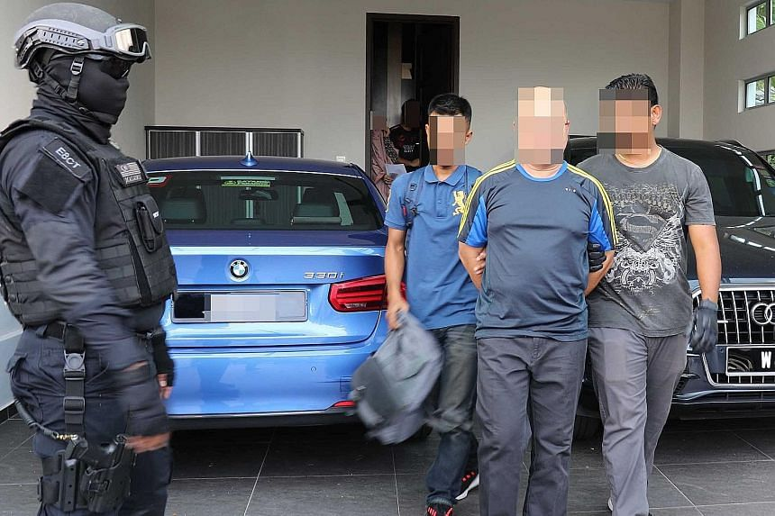 The suspects - five Malaysians and two Filipinos - were arrested in Kelantan, Sabah, Selangor and Kedah by the Bukit Aman Special Branch Counter-Terrorism Division from Nov 19 to Nov 28.
