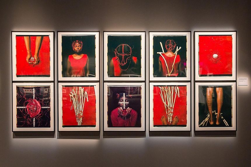 Cuba-born artist Maria Magdalena Campos-Pons' installation, The One Who Opens The Path (1997), is among the artworks displayed at the exhibition, In An Instant: Polaroid At The Intersection Of Art And Technology.