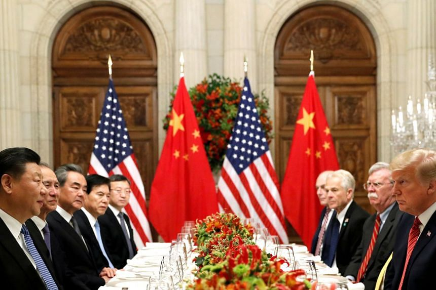 US President Donald Trump was upbeat about contacts with China as the two countries discussed a road map for the next stage of their trade talks on Dec 11, 2018.