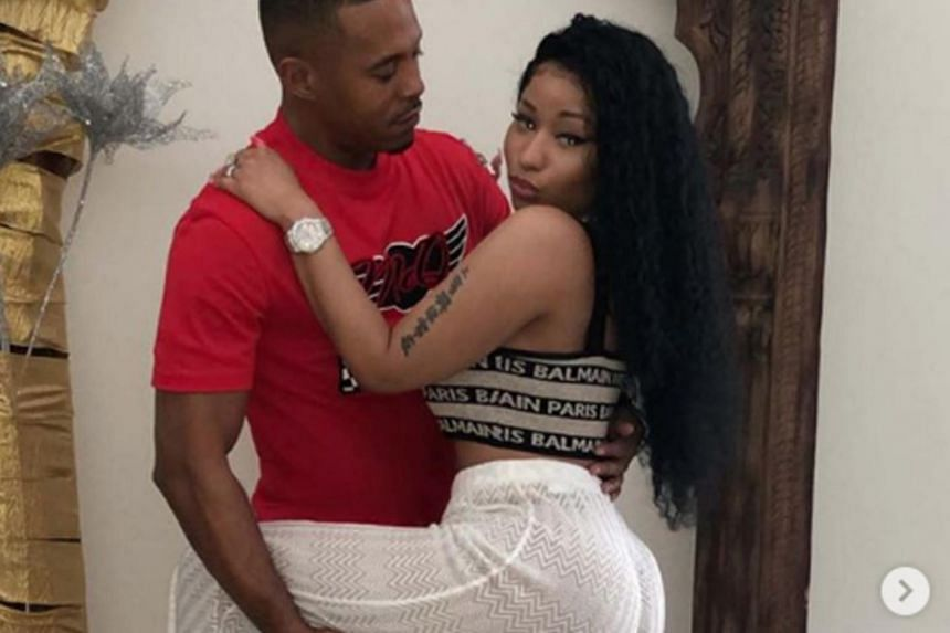 Nicki Minaj with Kenneth Perry, who is registered as a sexual offender in the New York state.
