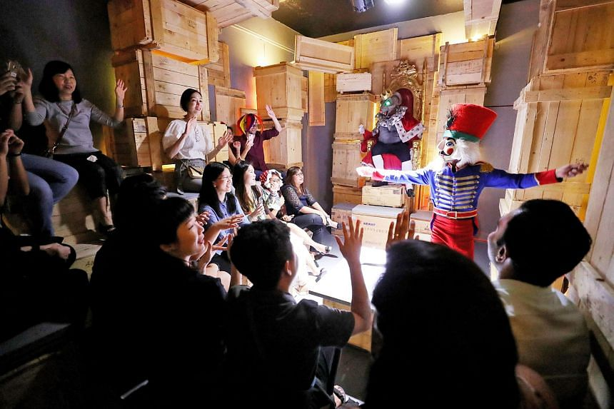 Characters battle in Marie And The Nutcracker, which has been showing at a secret venue since last month.