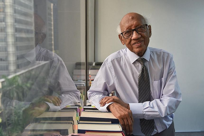 Mr V. Ramakrishnan started his law studies when he was 32, after helping to support his family. About 90 per cent of the cases he handles now are pro bono.