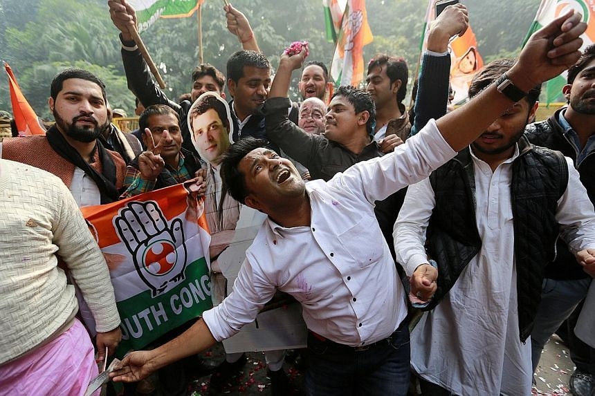 As Congress supporters celebrate, one view is that PM Narendra Modi and the BJP will not necessarily lose the general election next year as state elections are fought on local issues and Mr Modi has overwhelming popularity.