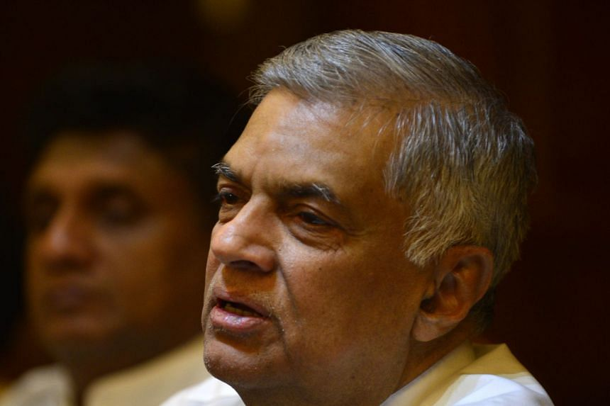 Sri Lanka's ousted prime minister Ranil Wickremesinghe attends a press conference in Colombo on Dec 4, 2018.