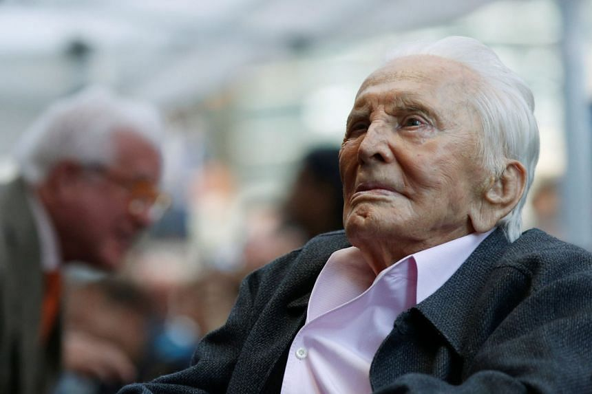Hollywood legend Kirk Douglas is savvy with today's social media trends, even at age 102.