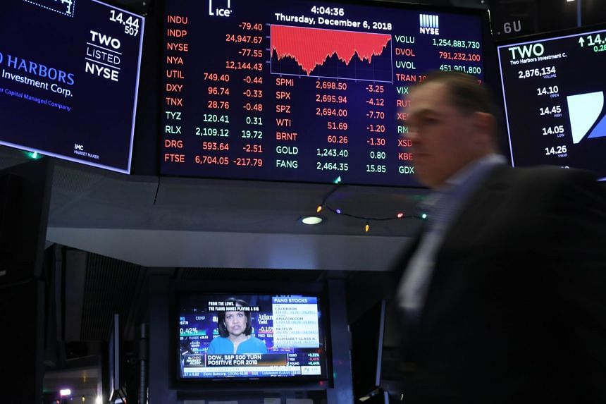 The 30-stock Dow Average fell 53.02 points to close at 24,370.24 after swinging more than 500 points.