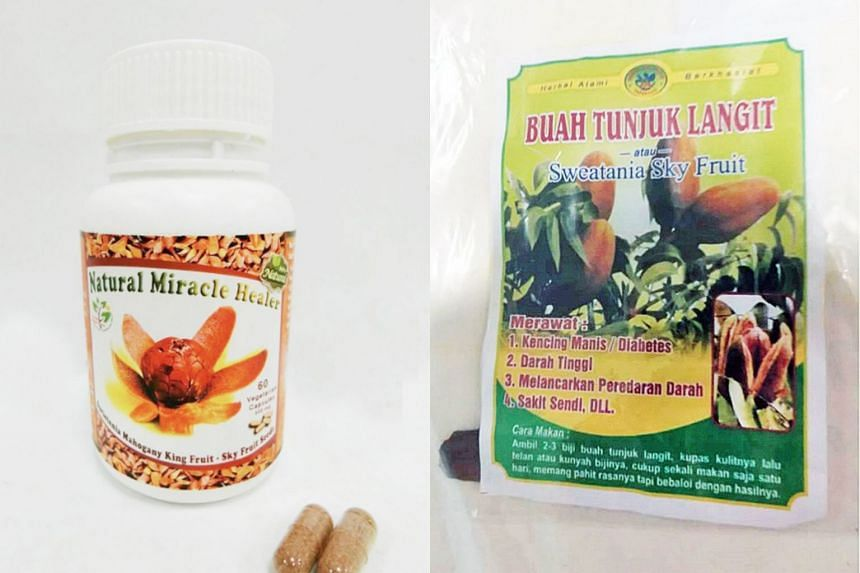 The affected people, in their 40s to 70s, had eaten the seeds in raw form (right) and in capsules. The HSA said all are reported to have recovered or are recovering after they stopped taking the suspected products.