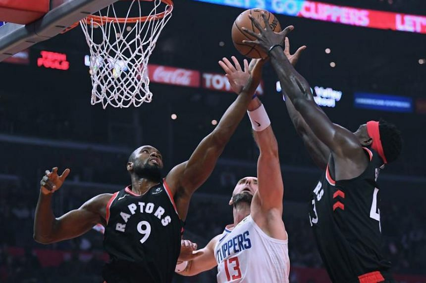 Serge Ibaka (left) led the way with 25 points while four other players made double figures.