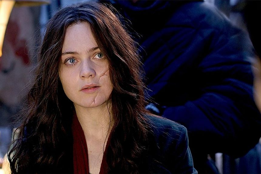 Hera Hilmar (above) stars as a fugitive in Mortal Engines, which is directed by Christian Rivers (below). In Mortal Engines, which is set on a futuristic Earth, entire cities move around on wheels and prey on small cities for their resources.