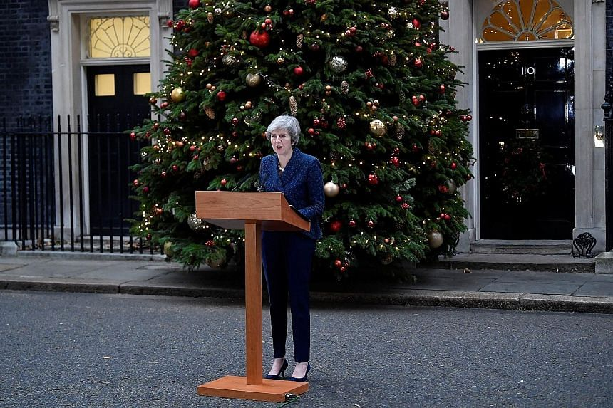British Prime Minister Theresa May, addressing the media outside 10 Downing Street yesterday, argued that the only beneficiaries of a vote of no-confidence would be the opposition Labour Party.