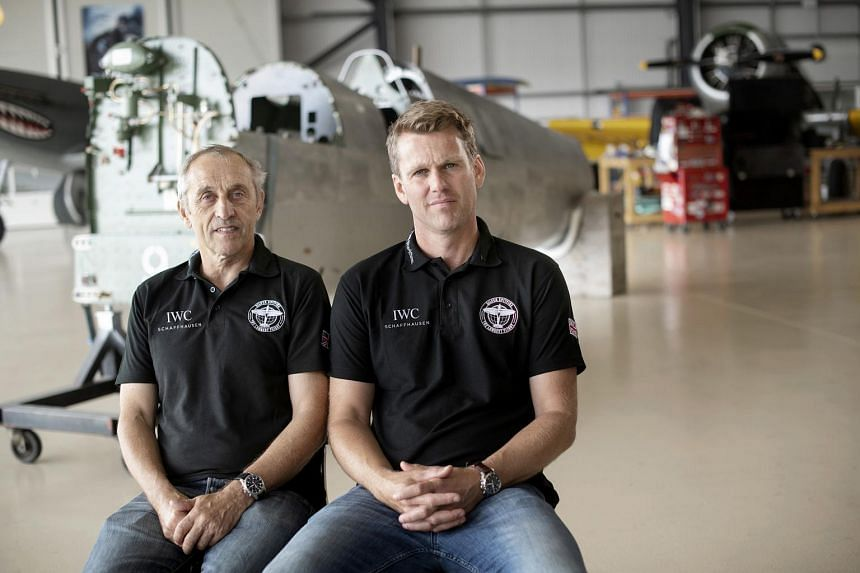British pilots Steve Brooks (left) and Matt Jones will be attempting the first circumnavigation around the globe in a 1943 Spitfire, one of the most iconic planes of World War II.