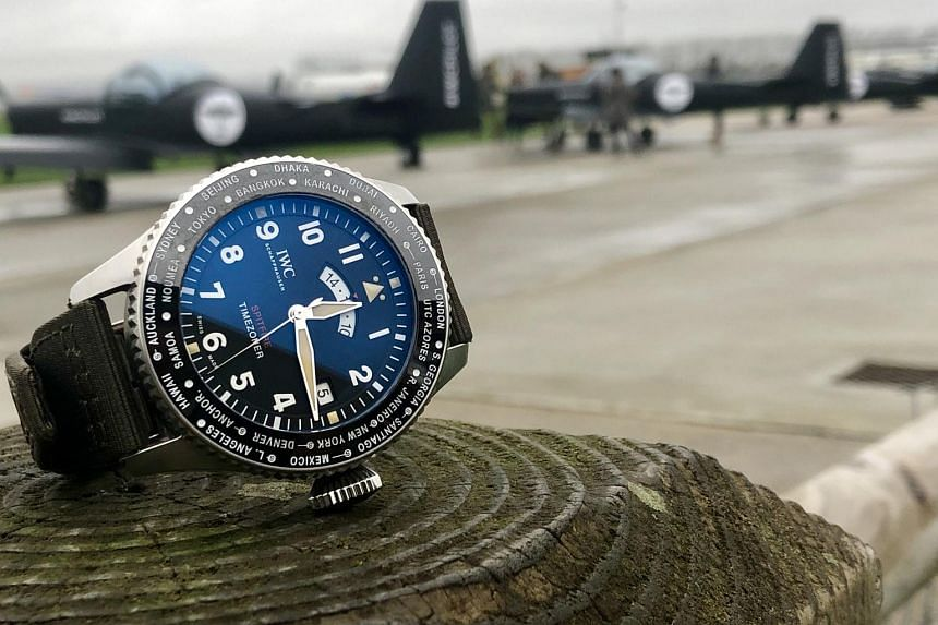 The Pilot's Watch Timezoner Spitfire edition, The Longest Flight, by IWC.
