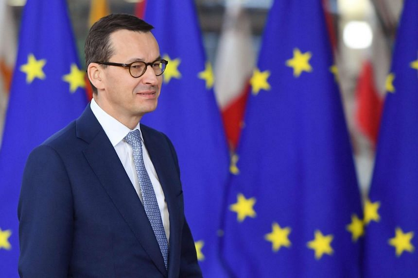 Poland's PM Mateusz Morawiecki at a European Council meeting in Brussels in November 2018.