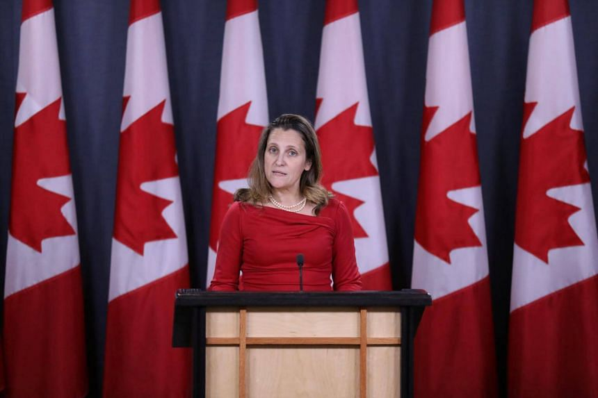 Canada's Foreign Minister Chrystia Freeland said the legal process should not be hijacked for political purposes.