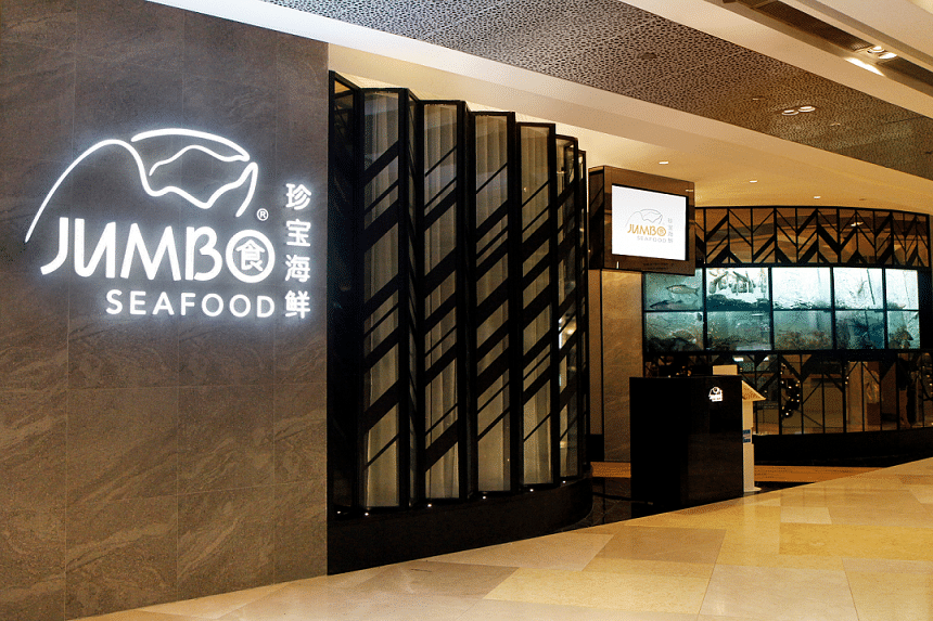 The 5,400 sq ft Jumbo Seafood outlet in Ion Orchard can accommodate 160 people and includes four VIP rooms.