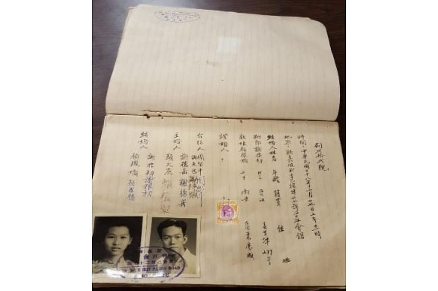 Chin Kang Huay Kuan Marriage Register and Wedding Ceremony Application Form, 1946.