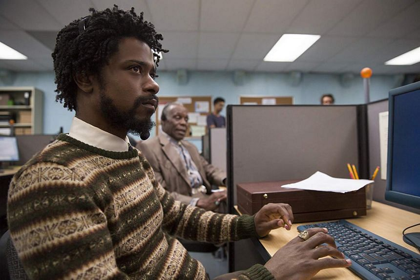In Sorry to Bother You, Cassius (Lakeith Stanfield) takes a soul-crushing telemarketing job and rises up the corporate ladder because on the phone, no one can tell he is black.