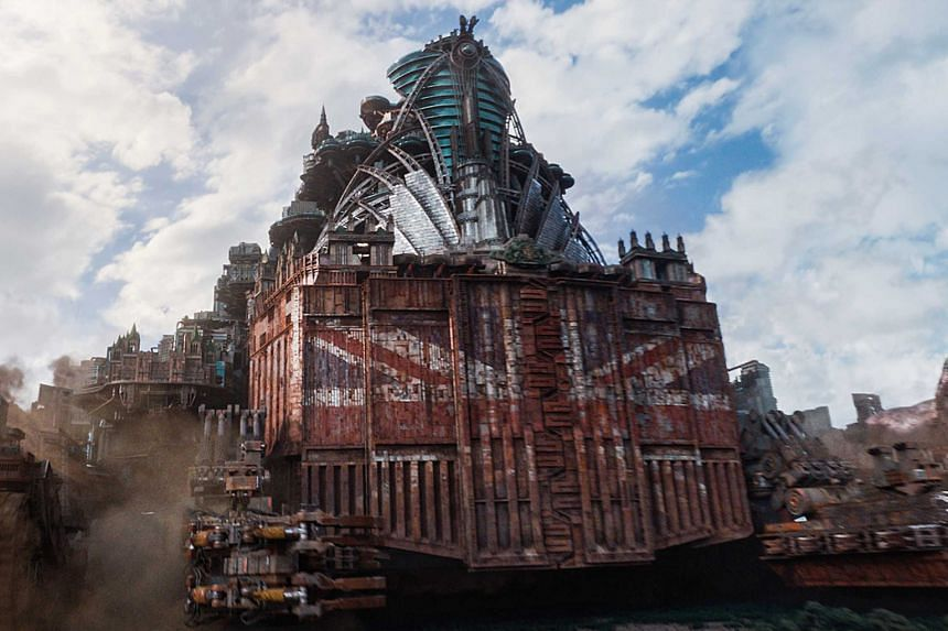 In Mortal Engines, which is set on a futuristic Earth, entire cities move around on wheels and prey on small cities for their resources.