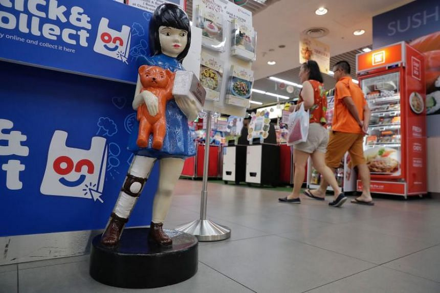 Suzy is a life-sized doll that collects donations for the Cerebral Palsy Alliance Singapore.
