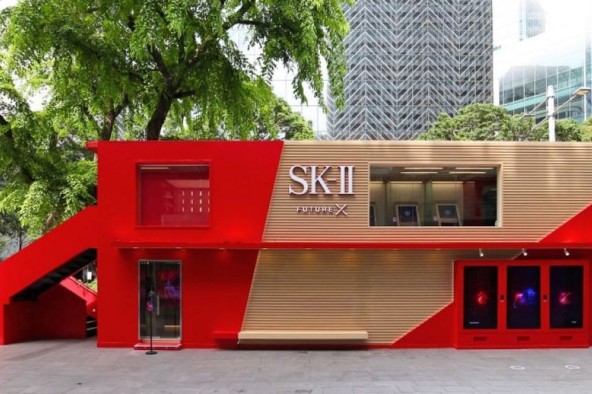 The SK-II Future X Smart Store is located outside Mandarin Gallery along Orchard Road. PHOTO: SK-II