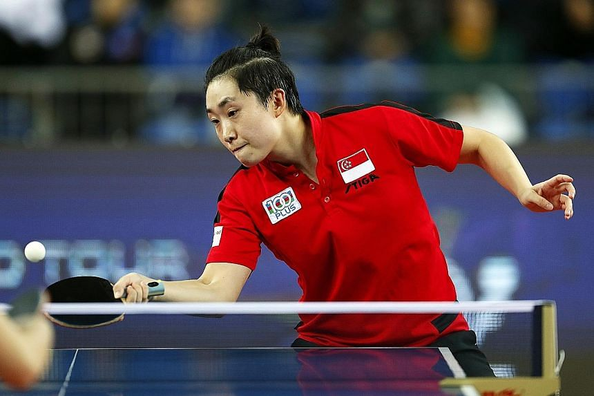 Feng Tianwei managed to level the match at 1-1 against Wang Manyu in their round-of-16 tie at the ITTF World Tour Grand Finals but the quality of the 19-year-old Chinese prevailed in the end.