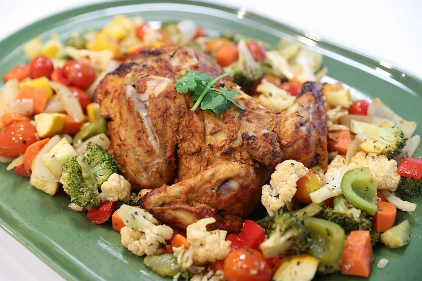 Combined with the Roasted Vegetable Medley, a single serving of the tandoori chicken will have around 430 calories per serving.