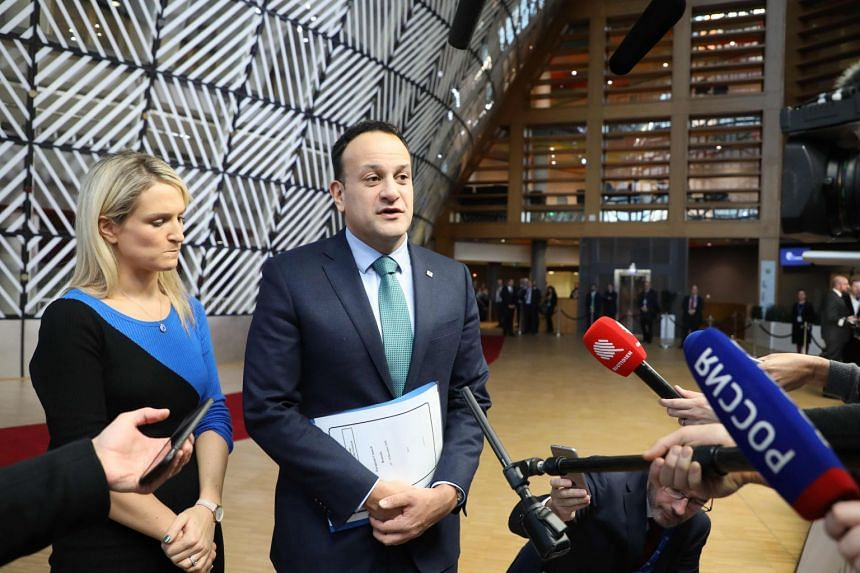 Ireland's Prime Minister Leo Varadkar speaking to the media in Brussels, on Dec 13, 2018.