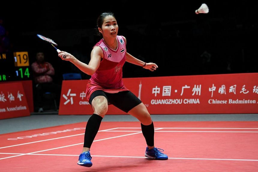 Thailand's Ratchanok Intanon plays a shot during the 2018 BWF World Tour Women's Singles Finals badminton competition in Guangzhou, on Dec 13, 2018.