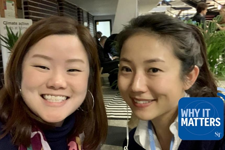 The Straits Times' environment correspondent Audrey Tan (right) speaks with National University of Singapore research fellow Melissa Low in Poland to get the lowdown on why the ongoing COP24 talks are considered so pivotal for the world and Singapore