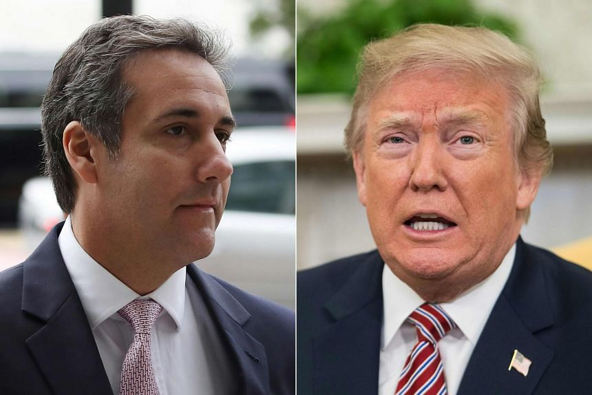 Cohen (left) was sentenced to three years behind bars for crimes including illegal hush money payments to a porn actress and a Playboy model who allegedly had slept with Trump (right).