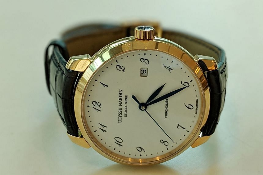 Film producer Huang Junxiang was given the Ulysse Nardin Classico (above) as a gift.