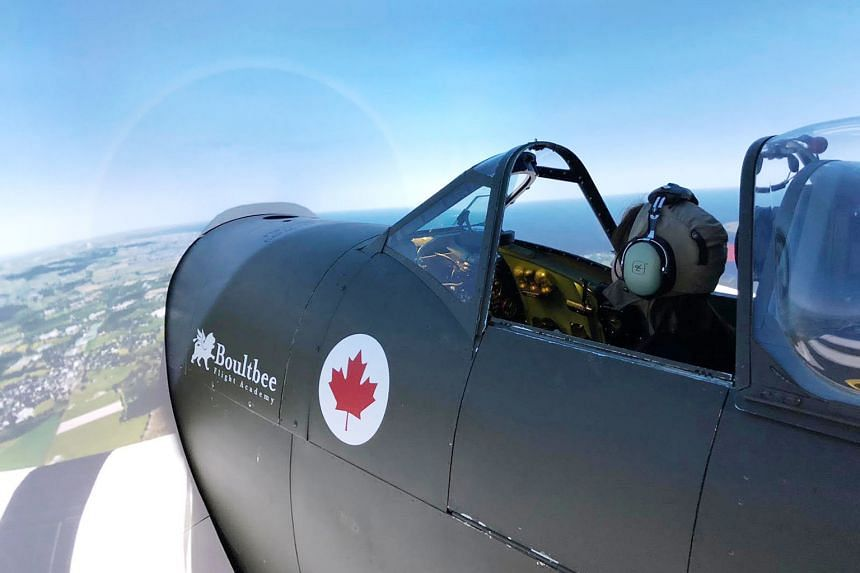 The Spitfire simulator at Boultbee Flight Academy is constructed with a real Spitfire MKIX fuselage.