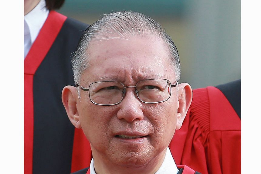 Judge of Appeal Judith Prakash will have her term extended by three years, while High Court judges Chan Seng Onn (above ), Lee Seiu Kin, Belinda Ang and Choo Han Teck will have their tenures extended by two years.