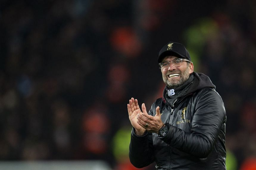 Klopp (above) is taking nothing for granted. even though Liverpool are 16 points ahead of United.