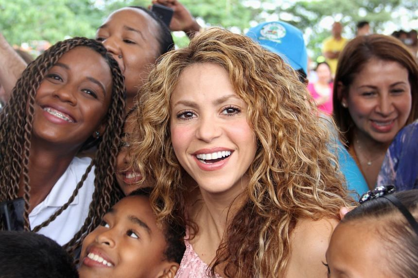 Singer Shakira visiting a school in Barranquilla, Colombia, in November 2018.