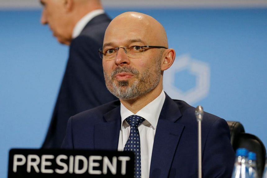 COP24 president Michal Kurtyka at the COP24 UN Climate Change Conference 2018 in Katowice, Poland.