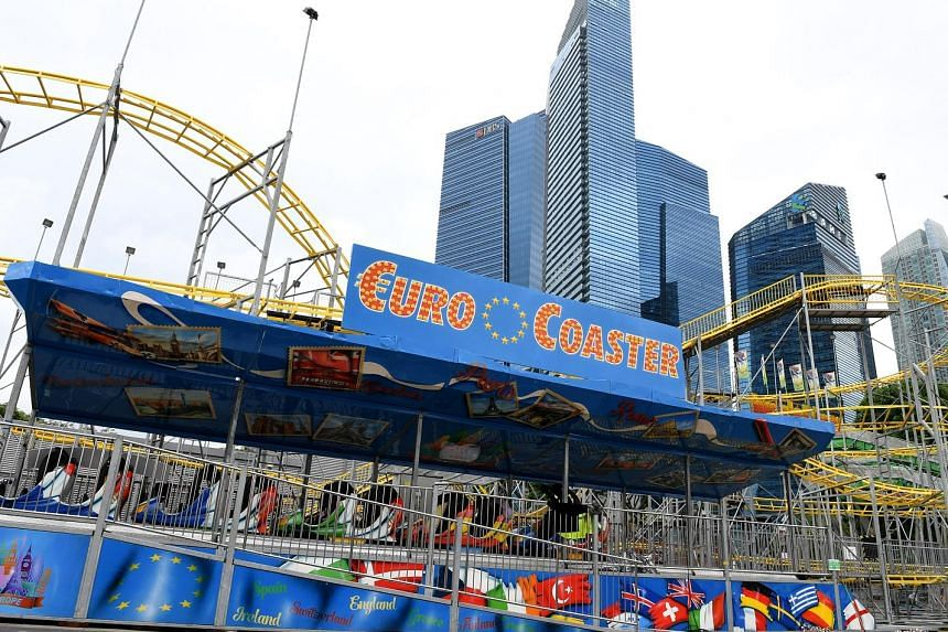 This year's edition of the Prudential Marina Bay Carnival, billed as Singapore's biggest carnival, is set to see the return of favourites such as Jungle River, which features gentle turns before heading down to a big splash, and the twirly Euro Coast