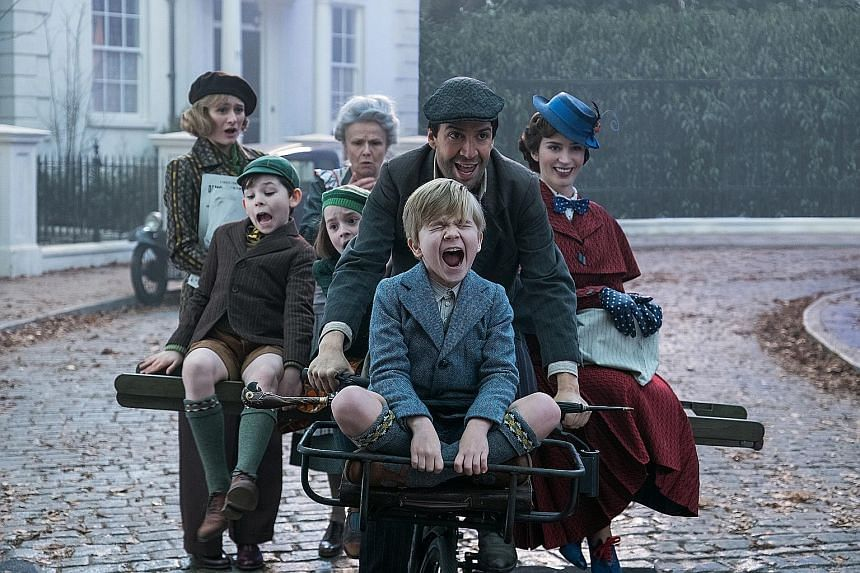 Magical nanny Mary Poppins is back to help the next generation of the Banks family find the joy and wonder missing in their lives following a personal loss in the upcoming movie Mary Poppins Returns.